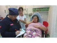 Emekli astsubay karısını kafasından bıçaklayarak hastanelik etti