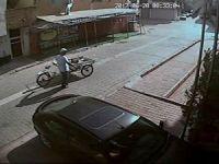 Başına kova geçiren bisiklet hırsızı bu kez jant çaldı