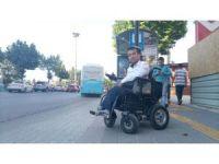 Engelliler, park alanlarına sandık ve oturma yerleri yapılmasını istemiyor