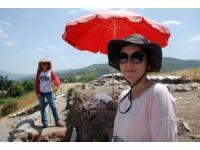 Antik kentte 40 derecede kazı çalışması