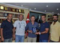MESK'ten Başkan Tuna'ya teşekkür plaketi