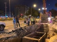 Atatürk Bulvarındaki alt yapı çalışmaları hızlandı