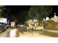 Pangaltı Ermeni Mezarlığı'nın duvarı çöktü
