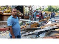 Alibeyköy'de olaylı yıkım