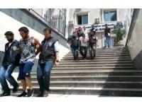 5 yıldızlı otelde yakalanan hırsızlar adliyeye sevk edildi