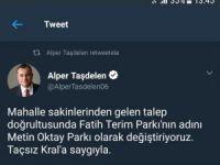 Fatih Terim Parkı'nın adı değiştirildi