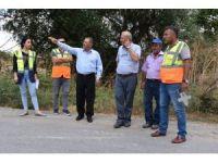 Bigadiç'te Başkan Avcu, Esenli'de yol yapım çalışmalarını inceledi
