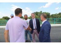 Başkan Şirin'den Urganlı köprüsünde inceleme