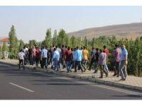 Kırşehir'de işçilerden 'yemek' eylemi