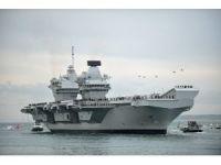 Birleşik Krallığın yeni uçak gemisi 'HMS Queen Elizabeth' limana geldi