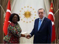 Cumhurbaşkanı Erdoğan, Tanzanya Büyükelçisi Kiondu'yu kabul etti