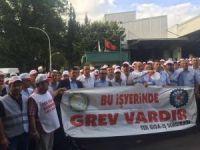 Bursa'da meşrubat fabrikasında grev