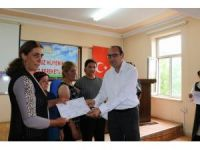 Kadın çiftçilere sertifikaları verildi