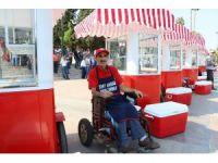 Simit arabaları engellilerin iş umudu oldu