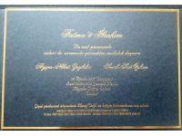 Bakan Zeybekci'nin kızının düğün davetiyesinde çiçek yerine Maarif Vakfı'na bağış çağrısı