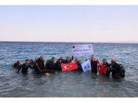 Engeliler Saros'ta tüplü sualtı dalışı yaptı
