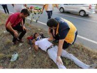 Kaza yapıp yaralandılar, 2 bin 200 TL'de ceza yediler