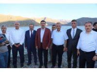 Bakan Tüfenkci Çat Barajı'nda incelemelerde bulundu