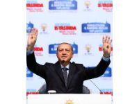 Cumhurbaşkanı Erdoğan Haliç Kongre Merkezi'nde partililere hitap ediyor