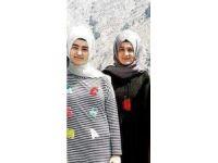 Trafik kazası kurbanı 2 kız kardeş son yolculuğuna uğurlandı