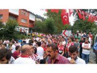 Samsunsporlu taraftarlar, Eren Bülbül için Trabzon'a gitti