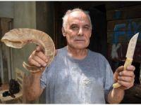 55 yıldır keçiboynuzundan bıçak üretiyor