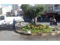 Parklar ve refüjlerdeki ağaç ile çiçekler sulanıyor