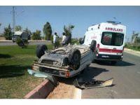 Suriyeli ailenin bulunduğu araç kaza yaptı: 4 yaralı