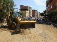 Nazilli'de 40 bin metrekarelik sıcak asfalt çalışması başladı.