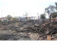 Bingöl'deki kereste yangını
