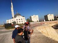 Rektör Karacoşkun yapımı devam eden çalışmaları yerinde inceledi