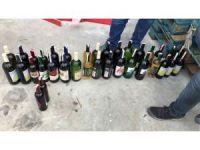 Alkollü içki fabrikalarına yapılan hileli 'vergi kaçakçılığı' baskını polis kamerasında