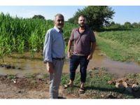 Tarlalarını su basan çiftçiler yetkililerden yardım istedi
