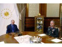 Cumhurbaşkanı Erdoğan Orgeneral Akar'ı kabul etti