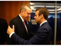 Cumhurbaşkanı Erdoğan, Fransa Cumhurbaşkanı Macron ile görüştü