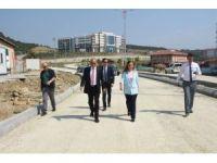 Düzce Belediyesi Kampüs içindeki yolları açılıyor