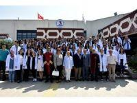 Amasya Tıp Fakültesi öğrencileri OMÜ'de eğitime başladı