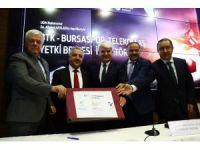 Bursaspor Telekomünikasyon A.Ş'nin yetki belgesi imzalandı