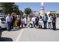 Yunak'ta obeziteye karşı sağlıklı yaşam yürüyüşü düzenlendi