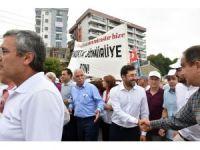 """Başkan Hazinedar """"Fındık için Adalet"""" yürüyüşüne katıldı"""