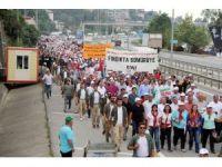 """Ordu-Giresun arasında yapılan """"Fındık için Adalet Yürüyüşü"""" 3. gününde tamamlandı"""