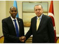 Cumhurbaşkanı Erdoğan, Somali Başbakanı Kayre ile görüştü