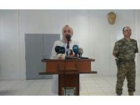 Bakan Kaya, Suriye sınırındaki üs bölgesinde konuştu