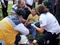 Köpeğin ısırdığı 10 yaşındaki Iraklı çocuğun gözyaşları