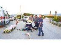 Elektrikli bisiklet ile otomobil çarpıştı: 1 yaralı