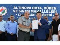 Kepez Belediyesi'nden Altınova'ya tapu müjdesi