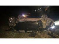 Alkollü sürücü, maket polis aracına çarptı