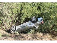 Otomobil bahçeye uçtu: 1 yaralı