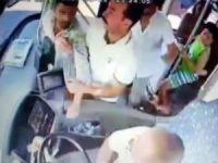 Saldırgan yolcuya şoförden önce otobüsteki yolcular müdahale etti