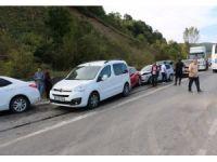 Zonguldak'ta 5 araç birbirine girdi: 4 yaralı